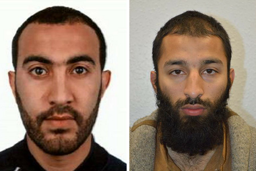Two London attackers named by police