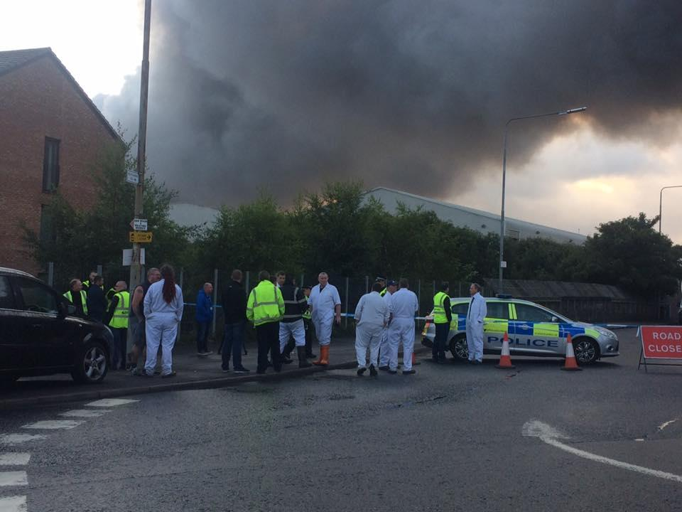 Firefighters tackle huge warehouse blaze in Glasgow
