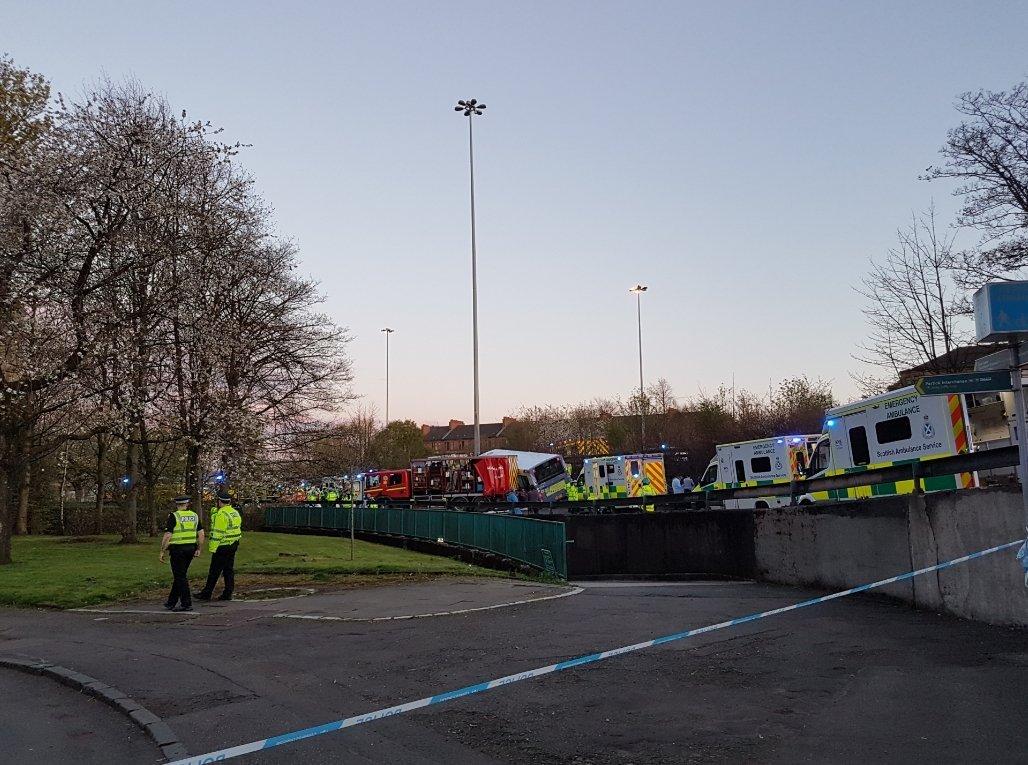 Dozens injured in Glasgow bus crash