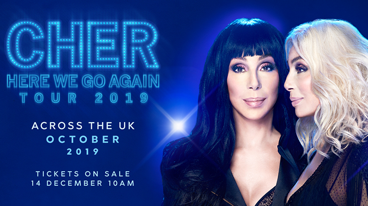 Cher to Tour UK in 2019